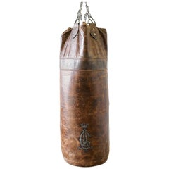 Antique Brown Leather Punching Bag, Ireland