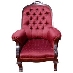 Chair American Classical Phyfe Style Mahogany Armchair
