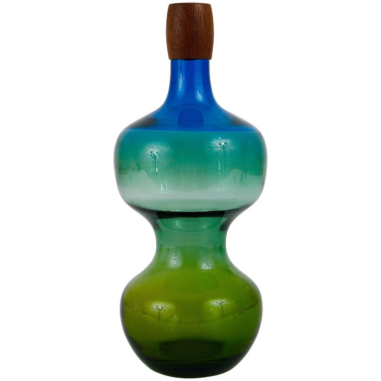 Colorful Tropico Carafe Bottle by Göran Wärff for Pukeberg, Sweden, 1960s