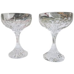 "Baccarat Crystal ""Massena"" Coupe Champagne Set for Two, Modern"