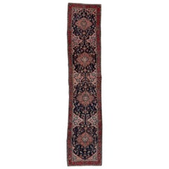 Antique Malayer Runner, Pink Field