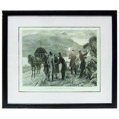 Irish Illustration Posting the Government Proclamation in Connemara