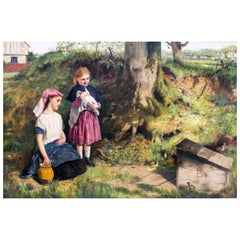 The Intruders, Oil on Canvas by Charles Sillem Lidderdale, Signed