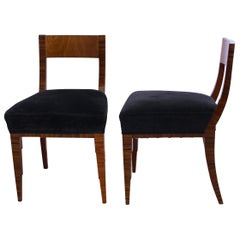 Exceptional Art Deco Chairs, Macassar and Ash, France, circa 1930