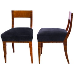Pair of Art Deco Chairs, Macassar and Ash, France, circa 1930