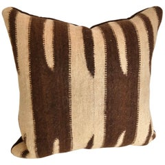 Custom Pillow Cut from a Vintage Wool Moroccan Ourika Rug, Atlas Mountains