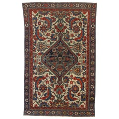 Rustic Style Distressed Antique Persian Malayer Rug