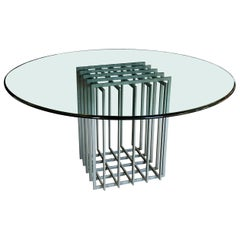 "Pierre Cardin Grid ""Cage"" Dining Table"