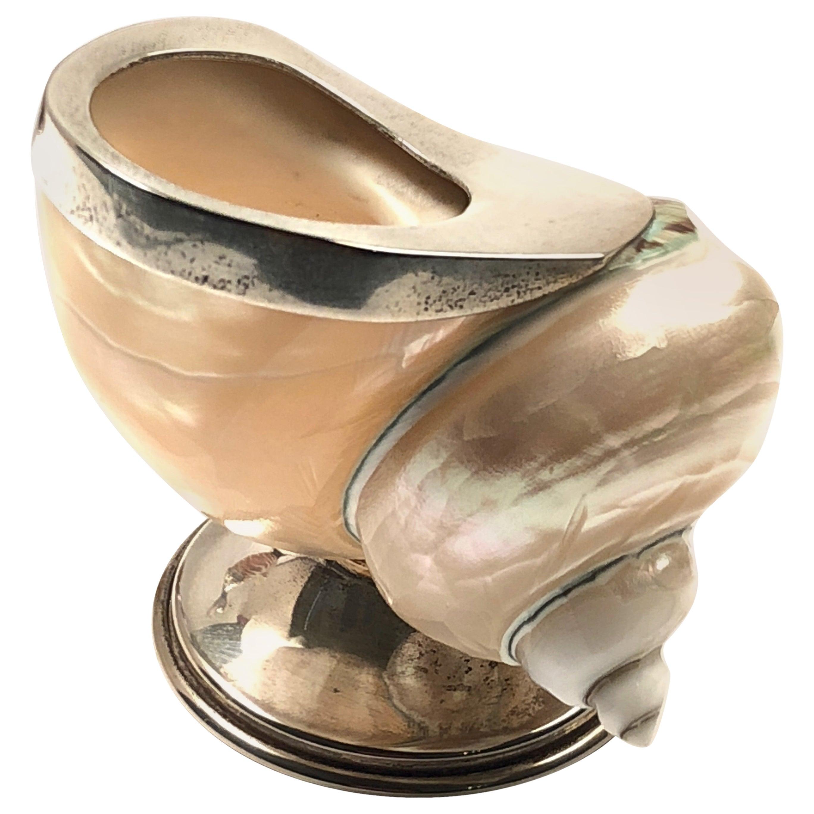 Rare Binazzi Shell Trinket Bowl Sculpture, 1970s, Italy