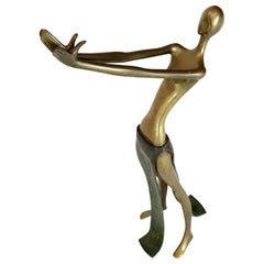 Bronze Sculpture of Reclining Nude