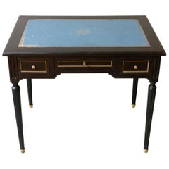 1920s French Ebonized Mahogany Writing Desk
