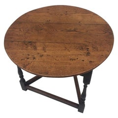 English Oak Cricket Table, circa 1820