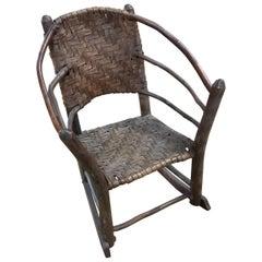 Child's Adirondack Rocking Chair Old Hickory