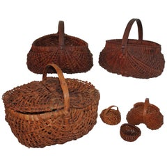 19th Century Basket Collection from Pennsylvania / 6 Pieces