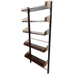 Adjustable Mahogany Book Shelves, Italy, circa 1957