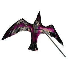 Glass Bird by Tróndur Patursson in Purple Colors