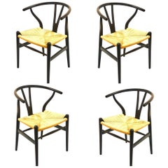 Set of 4 Hans Wegner Wishbone Chairs for Carl Hansen & Son