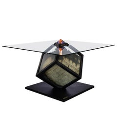 Too Much? I Unique Designer Money Burning Center Table, Dining Table with Fire
