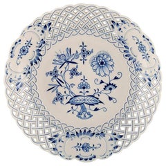 Meissen Blue Onion Pattern Pierced Bowl, 20th Century