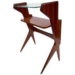 Ico & Luisa Parisi Mahogany Table, Nightstand, Italian, Midcentury, 1950s