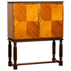 "1947, Mahogany ""Art Modern"" Dry Bar / Cocktail Cabinet by Reimers Möbler, Sweden"