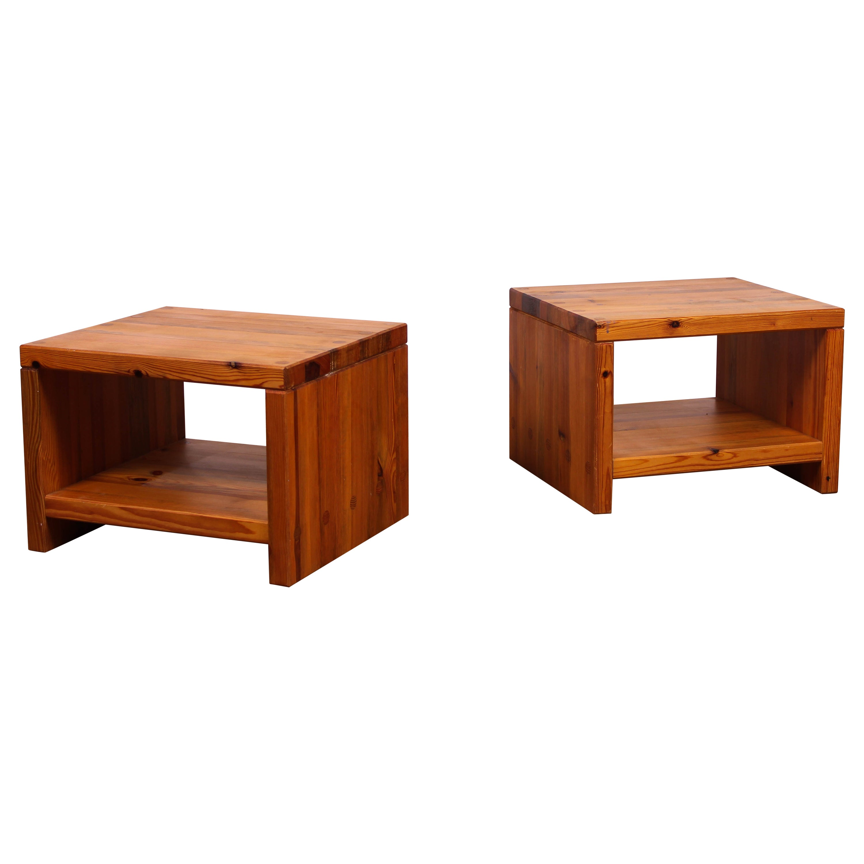 Midcentury Pine Side Tables By Sven Larsson For Mobel Shop