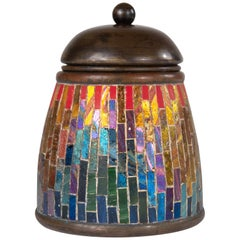 Extremely Rare and Important Tiffany Studios Mosaic Matchholder