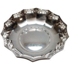 Tiffany & Co. Makers Sterling Silver Inverted Scalloped Bowl