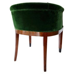 Green Velvet Thuja Seat by Dominique, 1930