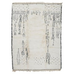 Contemporary Moroccan Beni Ouarain Berber Rug with Speckled Pattern