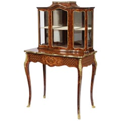 Louis XV Style Tulipwood, Kingwood and Marquetry Bonheur de Jour