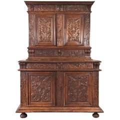 Richly Carved Renaissance Sideboard, circa 1580