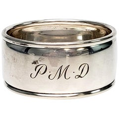 Tiffany & Co. Sterling Silver Napkin Ring with Monogram
