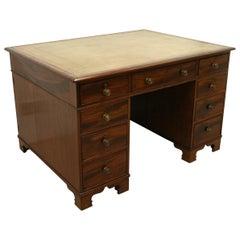 Late Georgian Mahogany Partners Desk