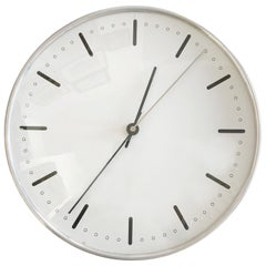 Rare Mid-Century Modern City Hall Wall Clock by Arne Jacobsen for Gefa, 1950s