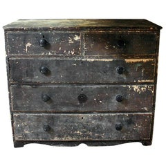 Large Victorian Painted Pine Chest of Drawers, circa 1900