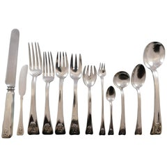 Lap over Edge by Tiffany and Co Sterling Silver Flatware Set 8 Service 112 Pcs