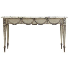 French Painted Console Table