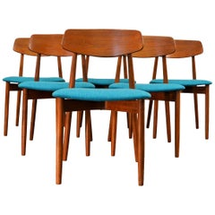 Vintage Harry Østergaard Teak Dining Chairs