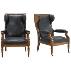 Pair of Grand Scale 19th Century Armchairs