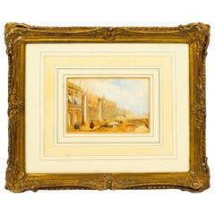 Antique Watercolor Venice by Samuel Prout, Early 19th Century