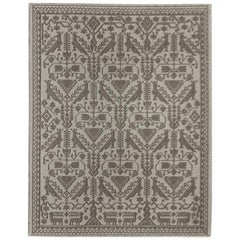 Monochromatic Allusion Carpet, in Natural, Hand-Tufted Sardinian Wool