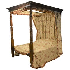 19th Century George IV Mahogany Four Poster Bed