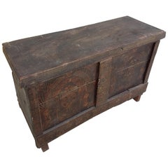 Moroccan Handmade Storage Trunk, Reclaimed Wood