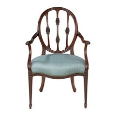 Single George III Mahogany Armchair After a Design by James Wyatt