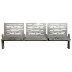 2010 Three-Seat Steel or Aluminum Bench or Outdoor or Garden
