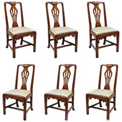 6 Statton Centennial Cherry Chippendale Style Dining Chairs for Duckloe