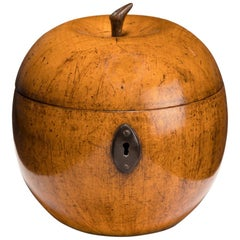 Fruitwood Tea Caddy in the Form of an Apple