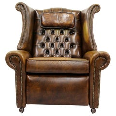 Chesterfield Fernsehsessel Ohrensessel Chippendale Sessel Antik