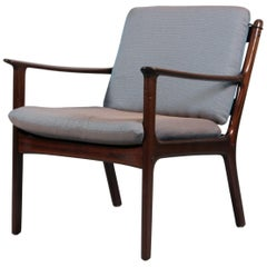 Ole Wanscher Lounge Chair, Model PJ112 in Massive Mahogany